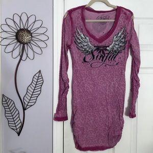 Pink/Purple Sinful Long Tunic- size Large